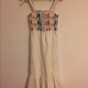 New w/ tags F21 peasant, midi, embroidered dress